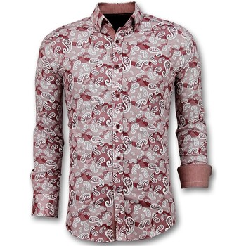 Textiel Heren Overhemden lange mouwen Tony Backer - Italiaanse Paisley  - Rood