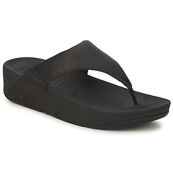 Schoenen Dames Teenslippers FitFlop LULU LEATHER Zwart