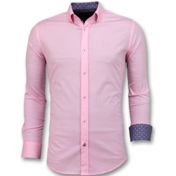Textiel Heren Overhemden lange mouwen Tony Backer Overhemden Italiaans -  - Roze