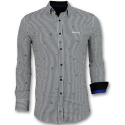 Textiel Heren Overhemden lange mouwen Tony Backer Italiaanse  -met Streepjes - Wit