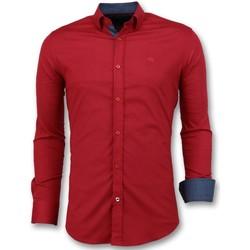 Textiel Heren Overhemden lange mouwen Tony Backer Overhemden Italiaans - Slim Fit  - Rood