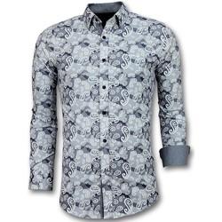 Textiel Heren Overhemden lange mouwen Tony Backer - Luxe Italiaanse Paisley  - Blauw