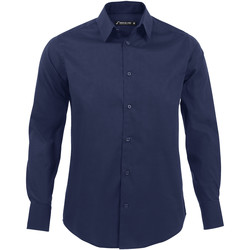 Textiel Heren Overhemden lange mouwen Sols BRIGHTON STRECH Azul