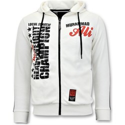 Textiel Heren Sweaters / Sweatshirts Local Fanatic Trainingsvest Muhammad Ali Print Wit
