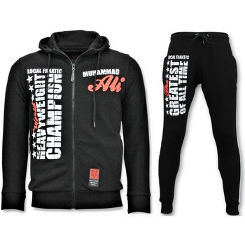 Textiel Heren Trainingspakken Local Fanatic Joggingpak Muhammad Ali Sport Set Zwart