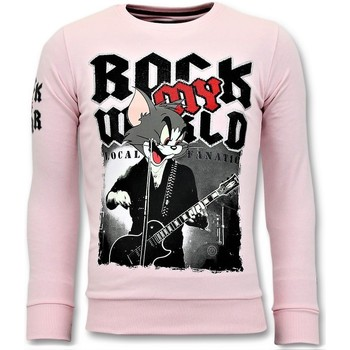 Textiel Heren Sweaters / Sweatshirts Local Fanatic Luxe Rock My World Cat Roze