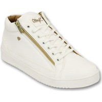 Schoenen Heren Lage sneakers Cash Money Sneaker - Bee White Gold 2-  White Wit
