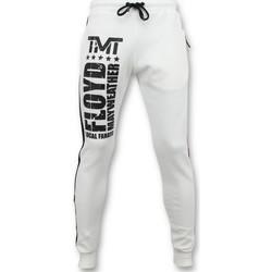 Textiel Heren Trainingsbroeken Local Fanatic Joggingbroek - Floyd Mayweather Sweatpants - Wit
