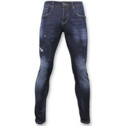 Textiel Heren Skinny jeans True Rise Basic Broek - Jeans Met Verfvlekken - D3068 - Blauw
