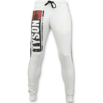 Textiel Heren Trainingsbroeken Local Fanatic Joggingbroek Mike Tyson Boxing Club Wit