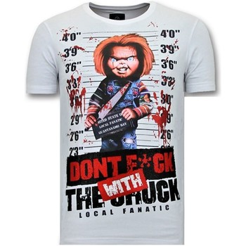 Textiel Heren T-shirts korte mouwen Local Fanatic T-Shirt Met Print - Bloody Chucky Angry - Wit