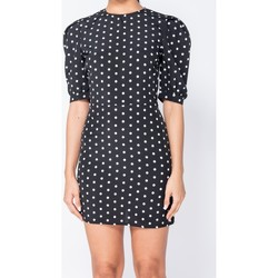 Textiel Dames Korte jurken Parisian Polka Dot Puffed - Bodycon Mini Dress - Zwart