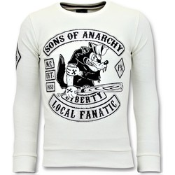 Textiel Heren Sweaters / Sweatshirts Local Fanatic Rhinestones Sweater - Sons Of Anarchy Trui - Wit