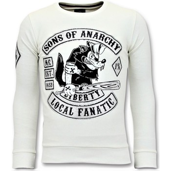 Textiel Heren Sweaters / Sweatshirts Local Fanatic Rhinestones Sons Of Anarchy Wit