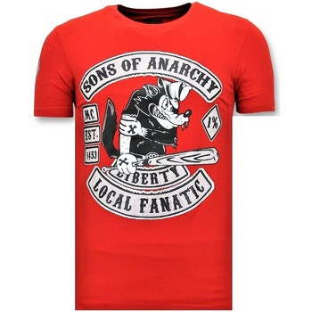 Textiel Heren T-shirts korte mouwen Local Fanatic T-Shirt Met Opdruk - Sons Of Anarchy Print - Rood