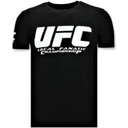 Textiel Heren T-shirts korte mouwen Local Fanatic T-shirt - UFC Championship Print - Zwart