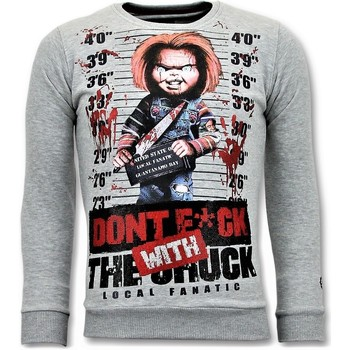 Textiel Heren Sweaters / Sweatshirts Local Fanatic Bloody Chucky Angry Print Grijs