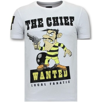Textiel Heren T-shirts korte mouwen Local Fanatic Print The Chief Wanted Wit
