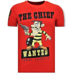 Textiel Heren T-shirts korte mouwen Local Fanatic T-Shirt - The Chief Wanted - Rood