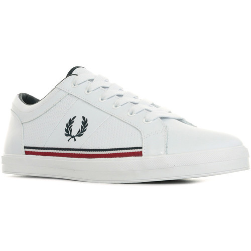 Schoenen Heren Lage sneakers Fred Perry Baseline Perf Leather Wit