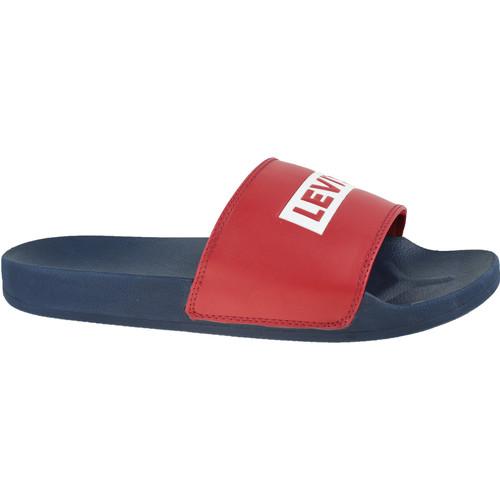 Schoenen Heren slippers Levi's June Babytab Bleu marine