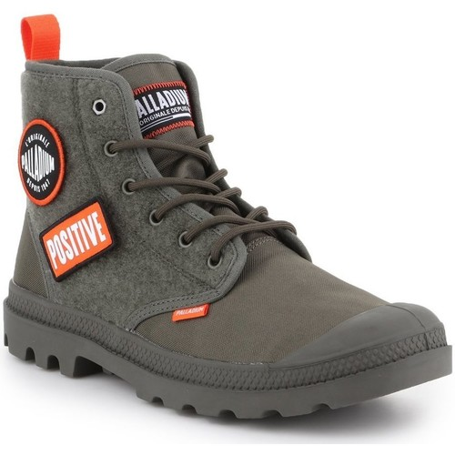 Schoenen Heren Hoge sneakers Palladium Pampa HI Change U 76648-325-M olive green