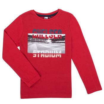 Textiel Jongens T-shirts met lange mouwen 3 Pommes 3R10015-37-C Rood