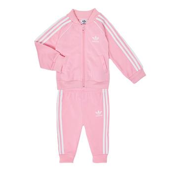 Textiel Meisjes Setjes adidas Originals SST TRACKSUIT Roze