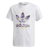 Textiel Meisjes T-shirts korte mouwen adidas Originals TREF TEE Wit