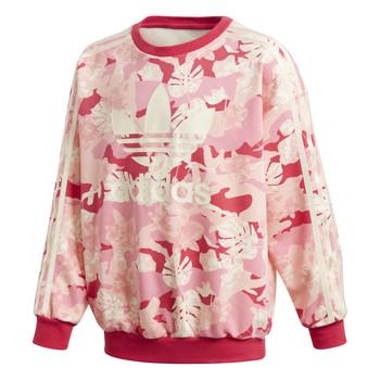 Textiel Meisjes Sweaters / Sweatshirts adidas Originals CREW Roze