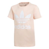 Textiel Meisjes T-shirts korte mouwen adidas Originals TREFOIL TEE Roze