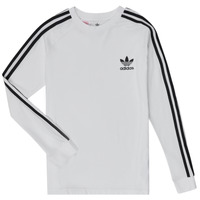 Textiel Jongens T-shirts met lange mouwen adidas Originals 3STRIPES LS Wit
