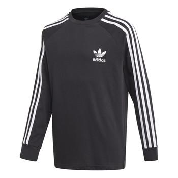 Textiel Jongens T-shirts met lange mouwen adidas Originals 3STRIPES LS Zwart