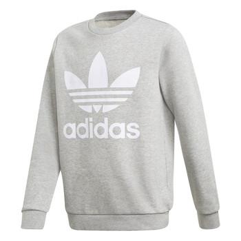 Textiel Kinderen Sweaters / Sweatshirts adidas Originals TREFOIL CREW Grijs