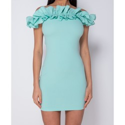 Textiel Dames Korte jurken Parisian Ruffle Detail Bardot Bodycon Mini Dress - Groen
