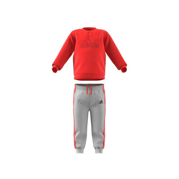 Textiel Kinderen Setjes adidas Performance MH LOG JOG FL Rood / Grijs