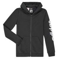 Textiel Meisjes Sweaters / Sweatshirts adidas Performance YG E LIN FZ HD Zwart