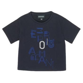 Textiel Meisjes T-shirts korte mouwen Emporio Armani 6H3T7R-2J4CZ-0926 Marine