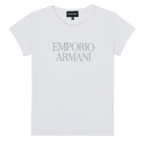 Textiel Meisjes T-shirts korte mouwen Emporio Armani 8N3T03-3J08Z-0100 Wit