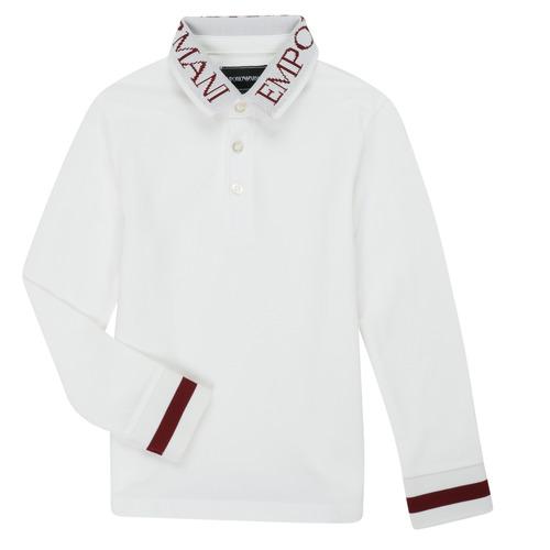 Textiel Jongens Polo's lange mouwen Emporio Armani 6H4FJ4-1J0SZ-0101 Wit