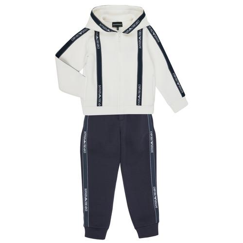 Textiel Jongens Trainingspakken Emporio Armani 6H4V02-1JDSZ-0101 Marine / Wit
