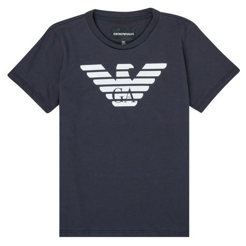 Textiel Jongens T-shirts korte mouwen Emporio Armani 8N4T99-1JNQZ-0939 Marine