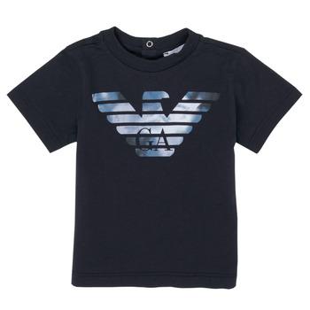 Textiel Jongens T-shirts korte mouwen Emporio Armani 6HHTA9-1JDXZ-0920 Marine