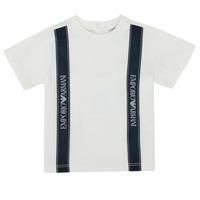 Textiel Jongens T-shirts korte mouwen Emporio Armani 6HHTG4-1JTUZ-0101 Wit