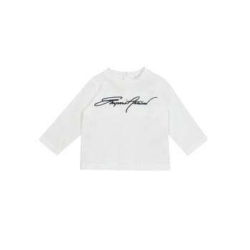 Textiel Jongens T-shirts met lange mouwen Emporio Armani 6HHTJN-1JTUZ-0101 Wit