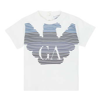 Textiel Jongens T-shirts korte mouwen Emporio Armani 6HHTQ7-1J00Z-0101 Wit