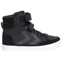 Schoenen Kinderen Lage sneakers Hummel stadil oiled high jr.       34787 Zwart