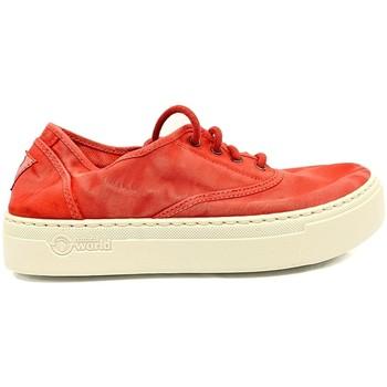 Schoenen Dames Lage sneakers Natural World Basket Platform Rouge 652-6112E Rood