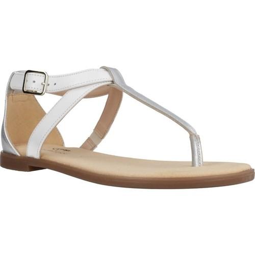 Schoenen Dames Sandalen / Open schoenen Clarks BAY POST WHITE INTEREST Wit