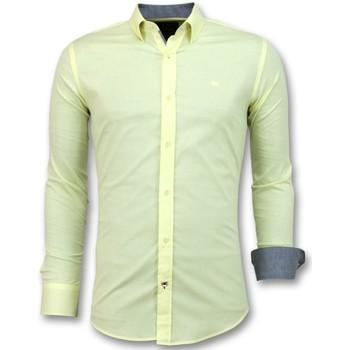 Textiel Heren Overhemden lange mouwen Tony Backer Italiaanse  Lange Mouw - Geel